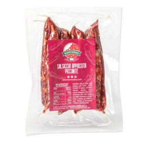 Acquista la nostra salsiccia appassita Piccante. Clicca e scopri il nostro shop online!