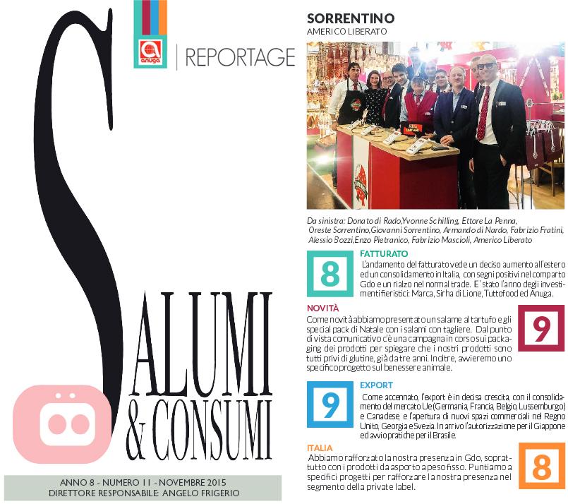 Salumi e Consumi - Reportage Anuga 2015